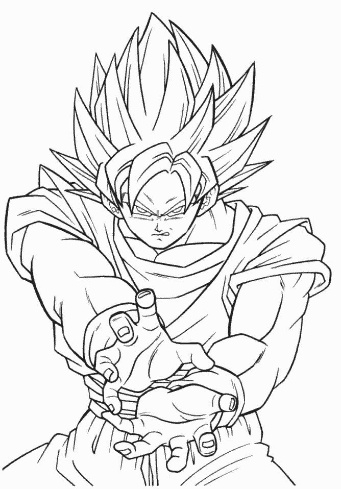 Dbzwarriors Com Dragon Ball Z Coloring Book Pages Dragon Ball Z ...
