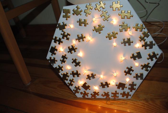 Diy Cerezah Tutorial Leuchtender Puzzle Keilrahmen
