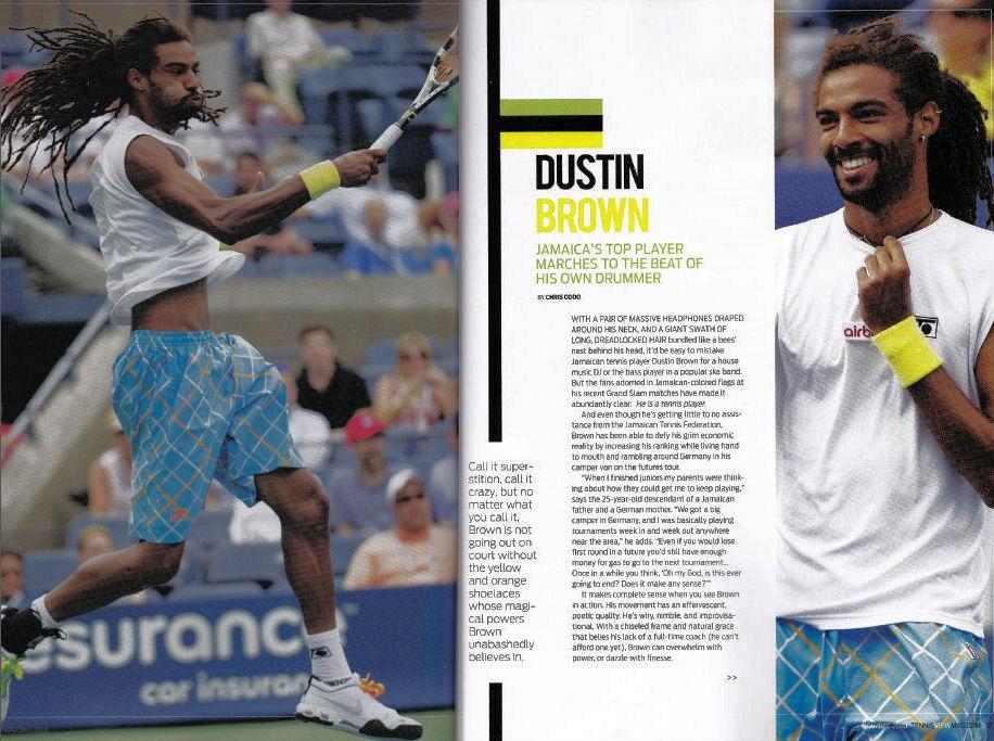 Bild: Bericht Tennis View Magazine U.S.A.: Ausgabe November / Dezember 2010