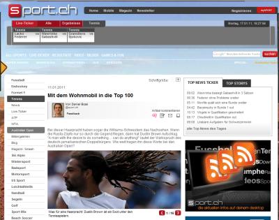 Report about Dustin Sport.ch (Switzerland)