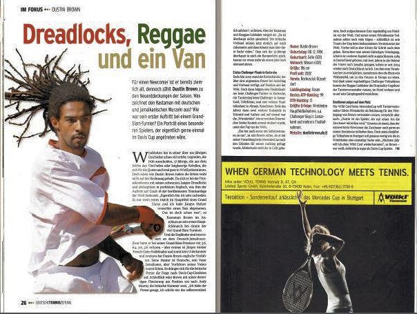 Bild: Bericht Deutsche Tenniszeitung 2010