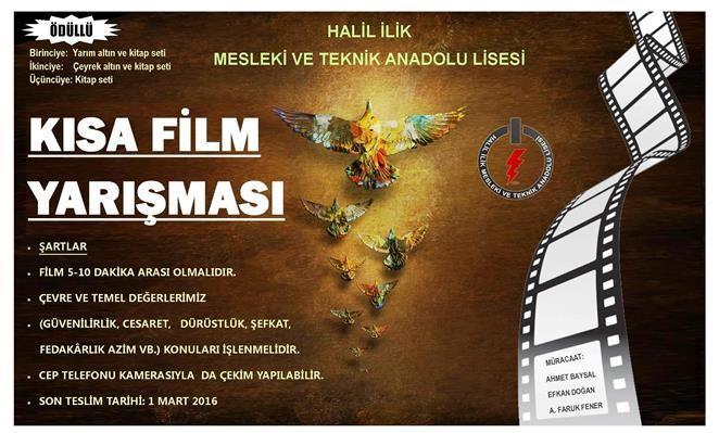 kısa film yarışması afişi, afişleri, efkan, halil ilik mtal