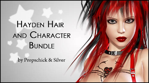 Hayden Bundle: Hair and Character for V4