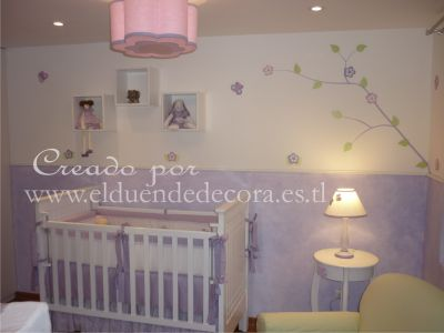 Pin mural para cuarto de bebe fresque pour chambre du b b for Fresque chambre bebe