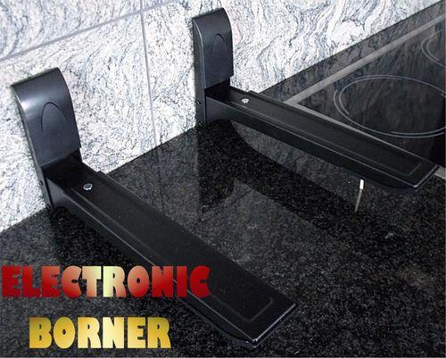 Microondas horno de pared soportes de montaje negro - Soporte de microondas ...
