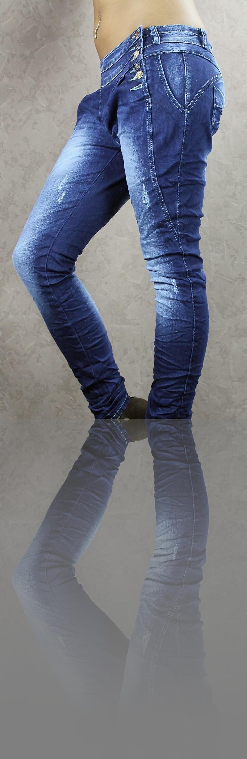 brandaktuelle baggy jeans mit 5 farbigen knopf system gr. Black Bedroom Furniture Sets. Home Design Ideas