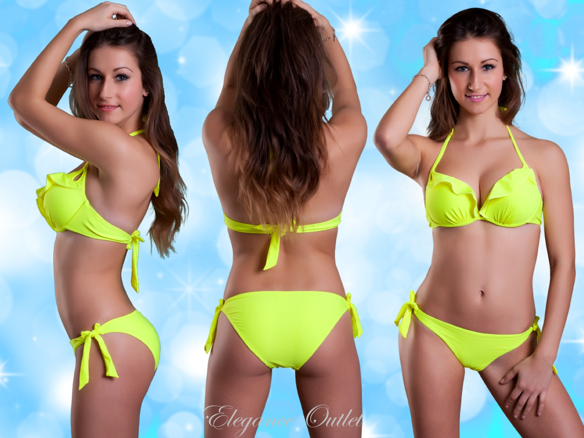 neu damen rae neckholder push up bikini mit r schen 34 36. Black Bedroom Furniture Sets. Home Design Ideas