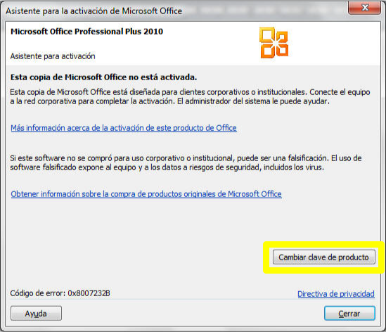 claves para activar microsoft office 2010