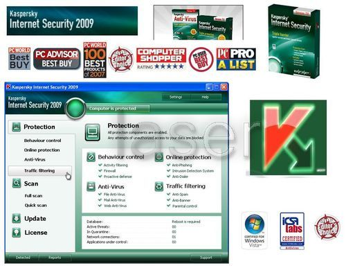 Kaspersky Internet Security 2009 is a new line of Kaspersky Labs products,