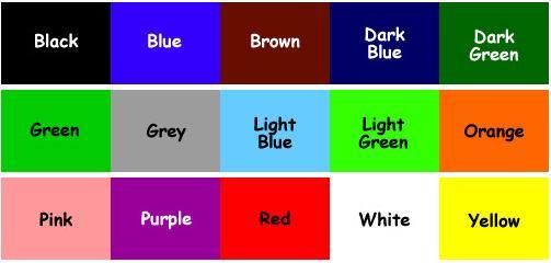 Colours renkler