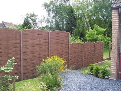 e s e equipement service environnement cloture beton aspect bois. Black Bedroom Furniture Sets. Home Design Ideas