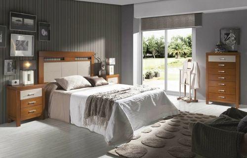 moderner Schlafbereich mit Wanddeko Poster auf Leinwand