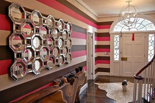 Wnde Streifen Wand Streichen Ideen Grau Streifen Muster Streifen An Der Wand  Braun.