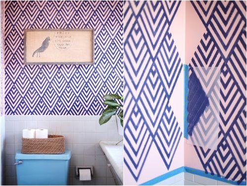 eurodesigninter wand streichen ideen muster streifen und struktureffekte. Black Bedroom Furniture Sets. Home Design Ideas