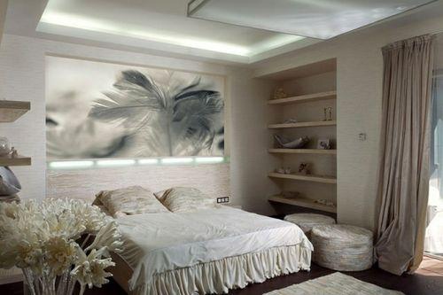 Wanddeko für Schlafzimmer mit Holzrahmen