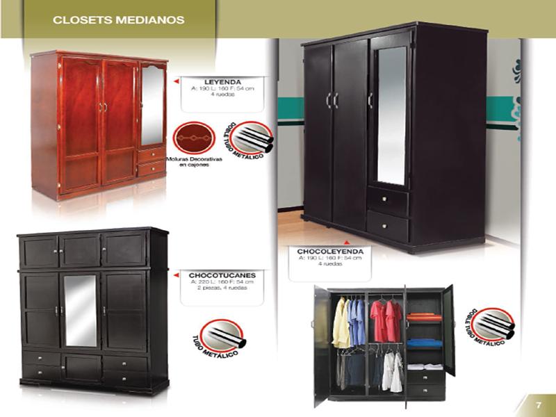 Fabrica de salas monterrey closets for Closet medianos