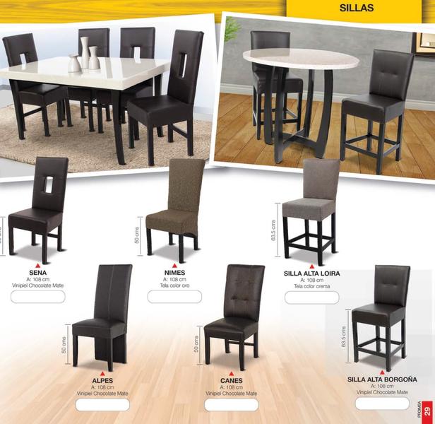 Fabrica de salas monterrey bancos for Comedores con sillas altas