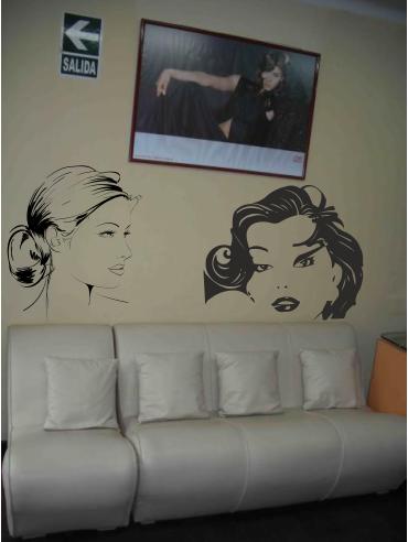 Fantasy deco vinilos decorativos salones de belleza y spa - Vinilos decorativos para salones ...