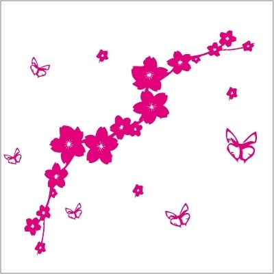 Fantasy deco vinilos decorativos mariposas - Fleur rose dessin ...