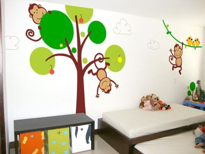 Fantasy deco vinilos decorativos animales salvajes for Vinilos muebles infantiles