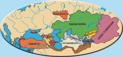 türk dünyası haritası ile ilgili görsel sonucu