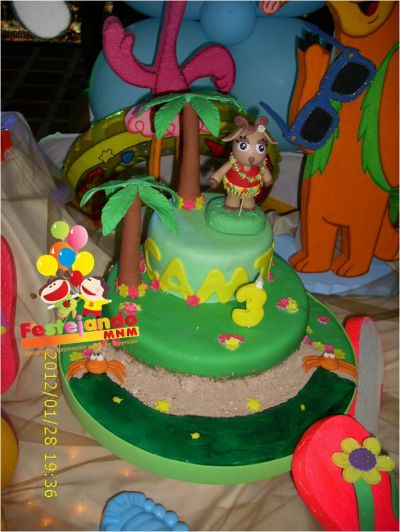 Tortas decoradas con manto para fiestas infantiles tortas for Tortas decoradas infantiles
