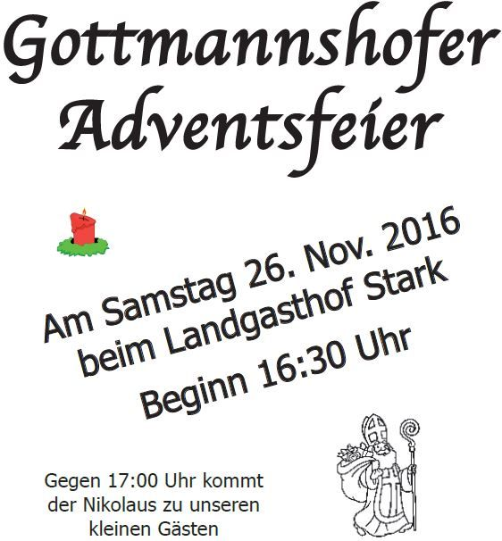 Weihnachtsmarkt in Gottmannshofen 2016