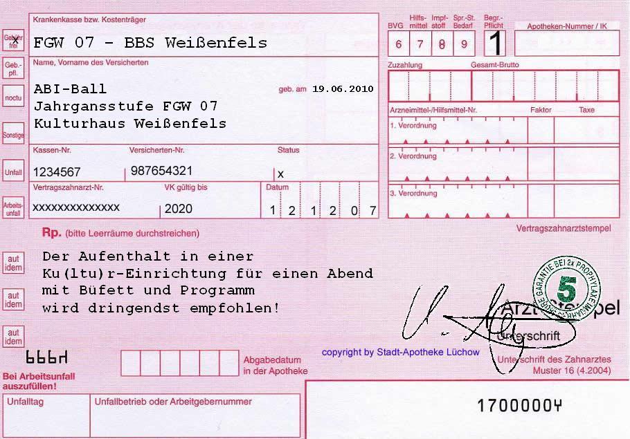 Fachgymnasium Wirtschaft - Jahrgang 2007 - ABI-Ball