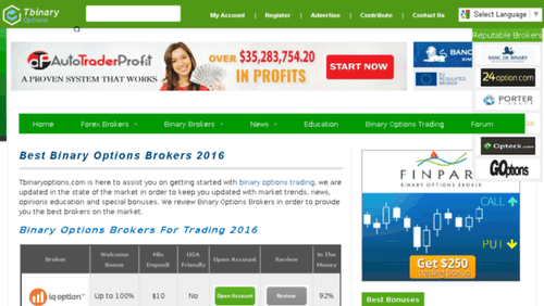 Best binary trading websites