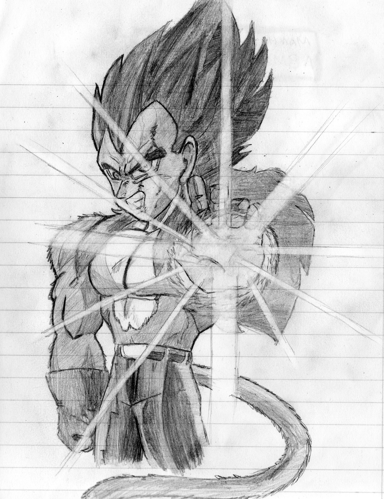 dragon ball z imagenes increibles  - dibujo a mano