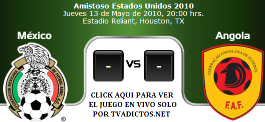 Mexico vs Angola en vivo online