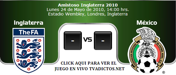 Mexico vs Inglaterra horario 13:30 hrs en vivo online