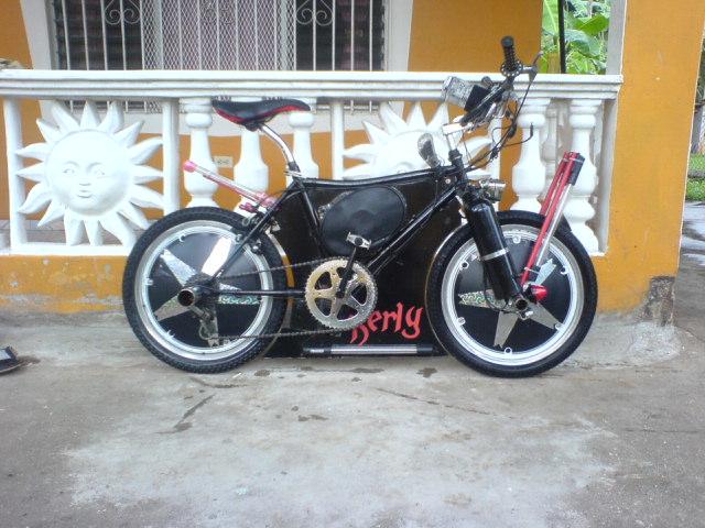 mi bicicleta modificada en panama fijense