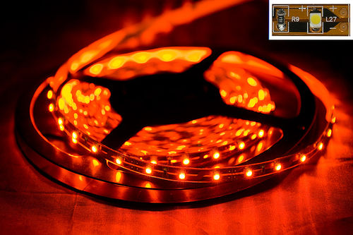led lichtband strips licht band lichtschlauch 5m flexibel 300 leds trafo orange ebay. Black Bedroom Furniture Sets. Home Design Ideas