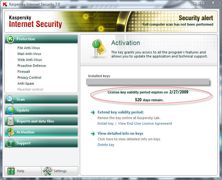 Kaspersky internet security 70 - oem