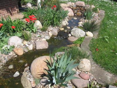 bachlauf im steingarten – rekem, Garten Ideen