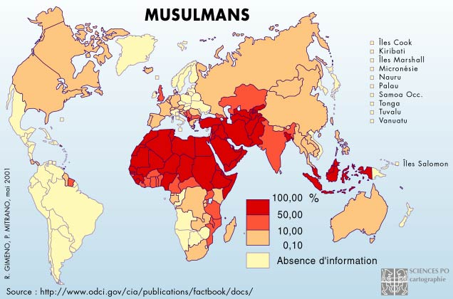 La Carte Du Monde Musulman | casamagenta