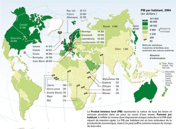 Mondialisation g ographie de la ville en guerre for Le produit interieur brut