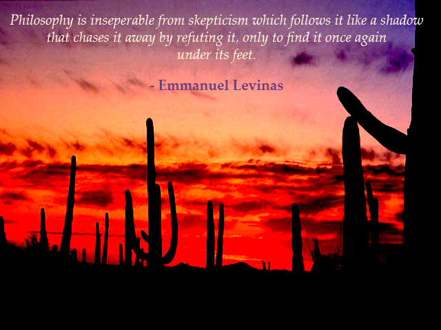 What is Philosophy?, Emmanuel Levinas, Professor Walter Sinnott
