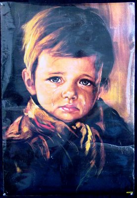 The Crying Boy, Die Weinenden Jungen, Cry Boy, Bruno Amadio, Ağlayan Çocuk Tablosu