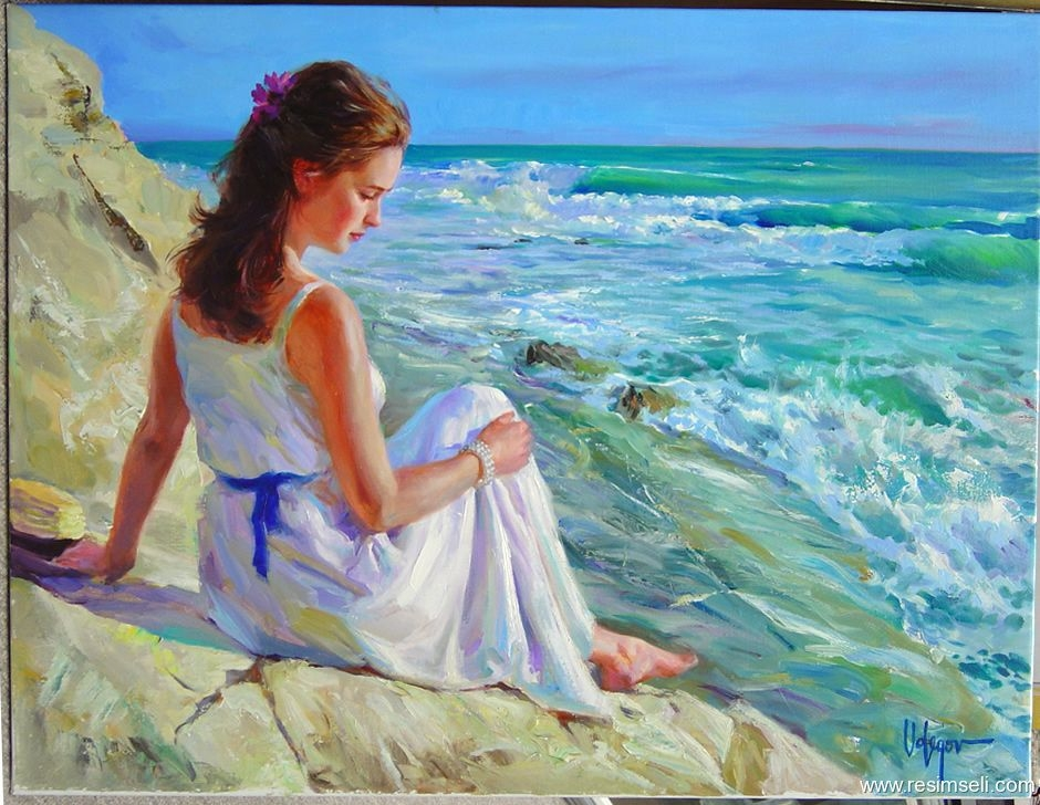 deniz ve kadın, sea and woman