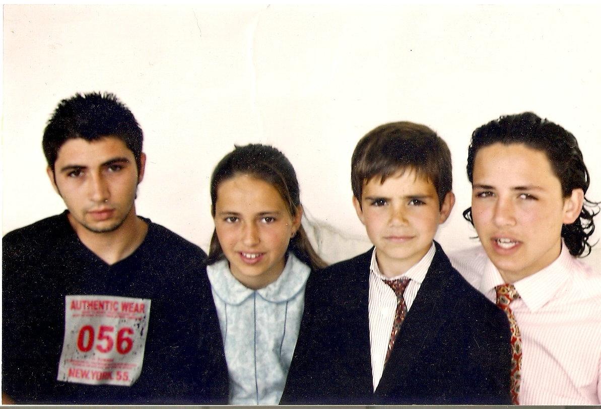 Eduardo, Borja, Ignacio y Angela(Silvela)