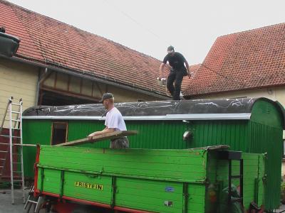 Bauwagen dach erneuern