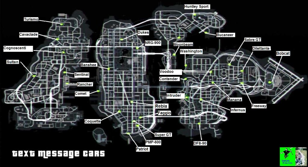gta iv car locations ps3 controller