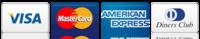 Aceptamos todas las tarjetas de crédito