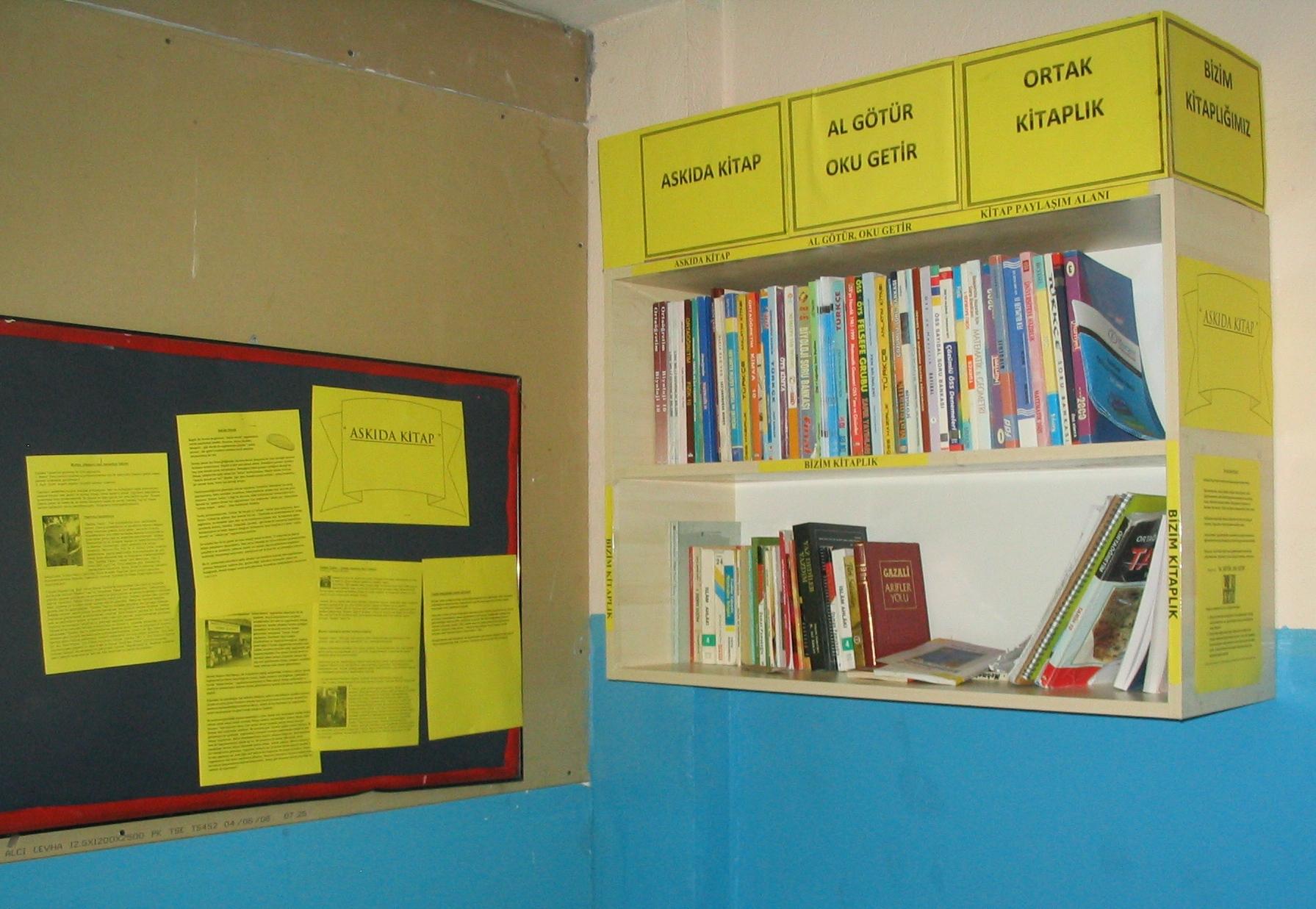 ortak kitaplık, okul projeleri, arif molu, eml, askıda kitap, bizim kitaplık, al götür, oku getir