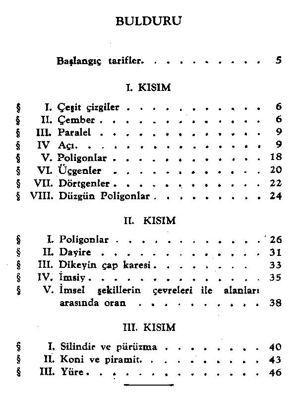 icindekiler Atatürkün Geometri Kitabı