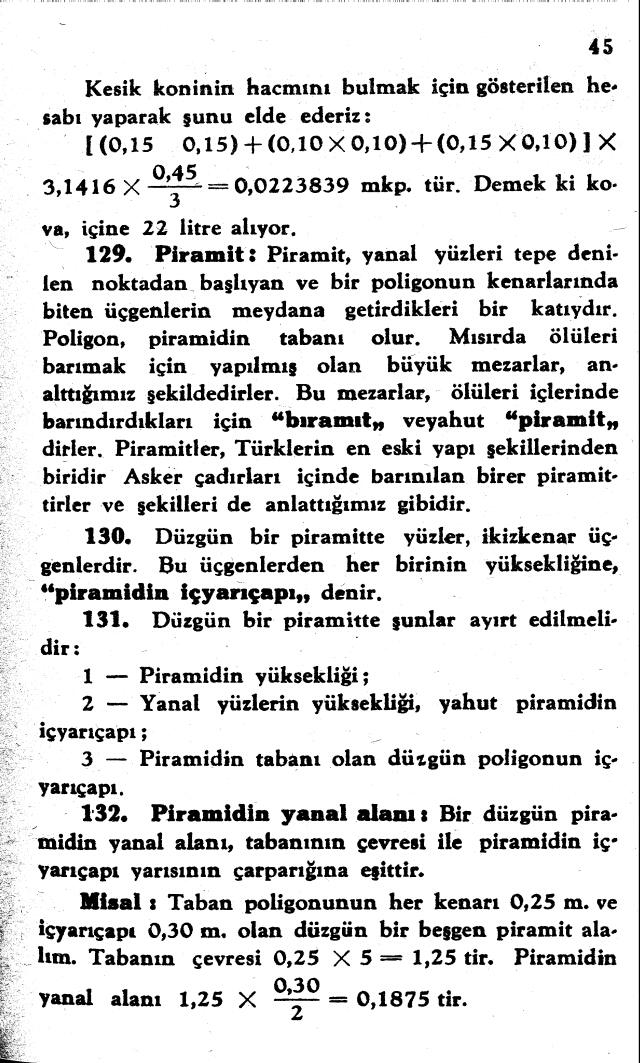 sayfa 45 Atatürkün Geometri Kitabı