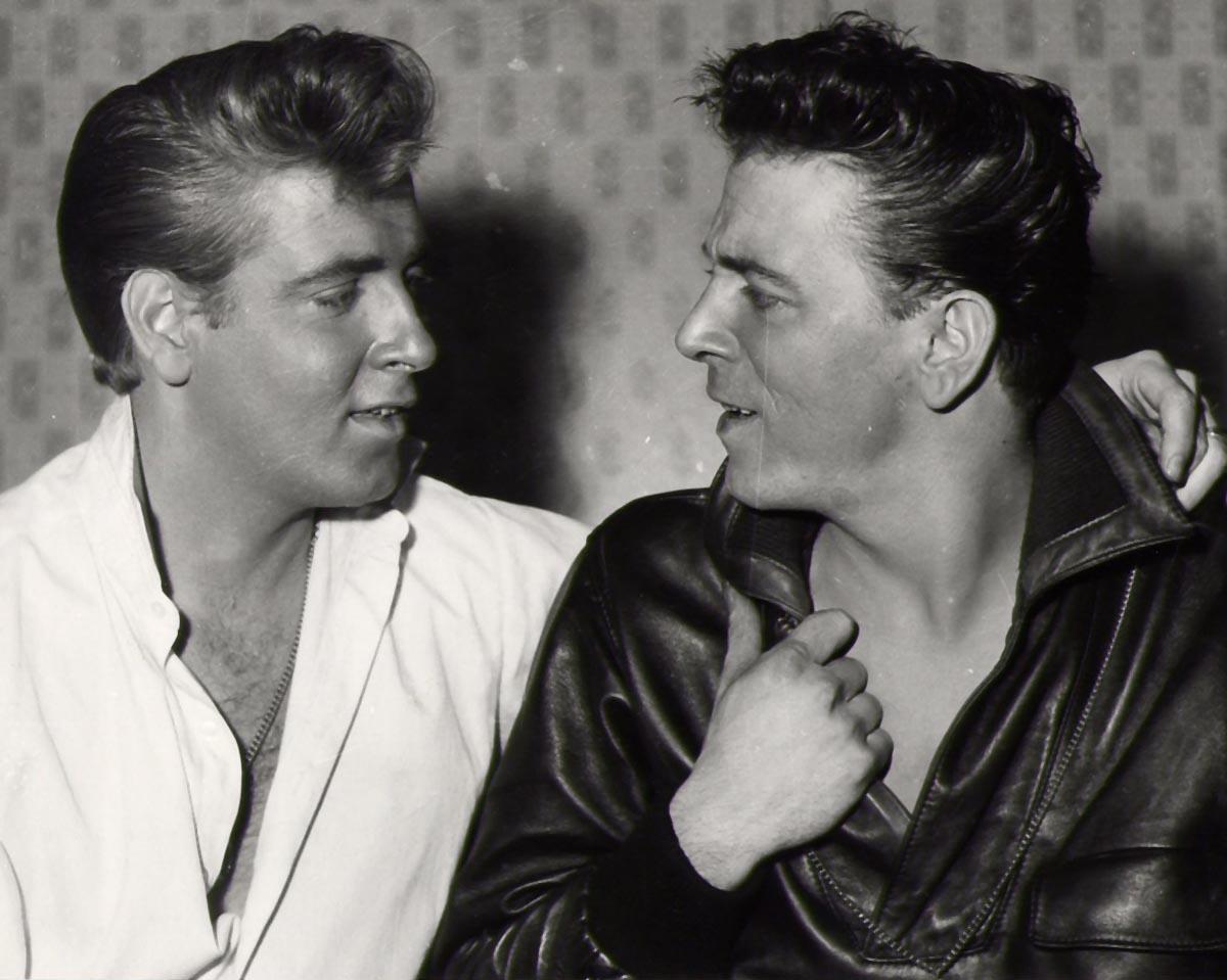 Eddie Cochran et Gene Vincent