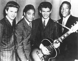 Clyde McPhatter avec les Everly Brothers et Jackie Wilson
